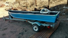 1995 Sears Fishing boat - Blue