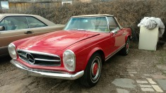 1964 Mercedes 25sl - Red