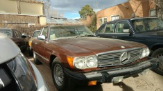 1978 Mercedes 450sl - Brown