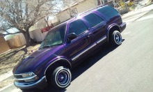 1999 Chevrolet S10 blazer - Purple